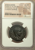 Ancients:Roman Imperial, Ancients: Gordian III (AD 238-244). AE sestertius (18.13 gm). NGC Choice XF 5/5 - 4/5....