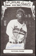 Autographs:Sports Cards, Signed 1973-79 TCMA All-Time Greats Satchel Paige....