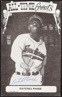 Signed 1973-79 TCMA All-Time Greats Satchel Paige