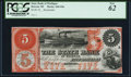 Detroit, MI- State Bank of Michigan $5 18__ G8a Remainder PCGS New 62