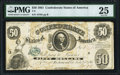 Confederate Notes:1861 Issues, T8 $50 1861 PF-2 Cr. 15 PMG Very Fine 25.. ...