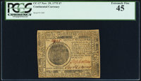 Continental Currency November 29, 1775 $7 PCGS Extremely Fine 45