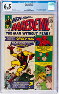 Silver Age (1956-1969):Superhero, Daredevil #1 (Marvel, 1964) CGC FN+ 6.5 Off-white pages.