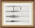 Explorers:Space Exploration, Apollo 11: Seismogram of Launch in Framed Display Directly From The Armstrong Family Collection™, CAG Certified....