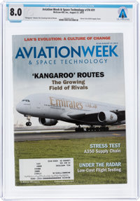 Magazines: Aviation Week & Space Technology Dated August 27, 2012, Directly From The Armstrong Family Collection...