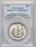 Commemorative Silver, (4)1947 50C Booker T. Washington MS64 PCGS. PCGS Population: (503/1125). NGC Census: (236/633). CDN: $35 Whsle. Bid for pro... (Total: 4 coins)