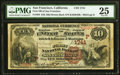 National Bank Notes:California, San Francisco, CA - $10 1882 Brown Back Fr. 484 The First NB Ch. # (P)1741 PMG Very Fine 25.. ...