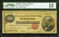 Large Size:Gold Certificates, Fr. 1178 $20 1882 Gold Certificate PMG Choice Fine 15.. ...