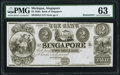 Obsoletes By State:Michigan, Singapore, MI- The Bank of Singapore $2 18__ Remainder PMG Choice Uncirculated 63.. ...