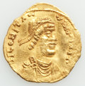 Ancients:Byzantine, Ancients: Constantine IV Pogonatus (AD 668-685). AV tremissis (17mm, 1.33 gm, 6h). About XF, wavy flan....