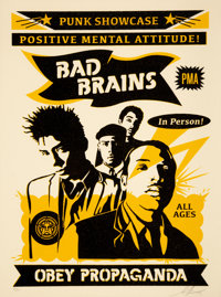 Shepard Fairey (b. 1970) Bad Brains Punk Showcase (Rock for Light), 2016 Screenprint in colors on cream speckled paper...