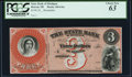 Obsoletes By State:Michigan, Detroit, MI- State Bank of Michigan $3 18__ Remainder PCGS Choice New 63.. ...