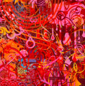 Paintings:Contemporary   (1950 to present), Ryan McGinness (American, b. 1972). Untitled, 2008. Acrylic on canvas. 24 x 24 inches (61 x 61 cm). Signed and dated on ...