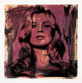 Works on Paper:Contemporary   (1950 to present), Mr. Brainwash (French, b. 1966). Kate Moss, 2010. Acrylic, screenprint, and collage on paper. 22 x 22 inches (55.9 x 55....