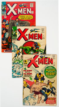 X-Men Group of 5 (Marvel, 1964-76) Condition: Average GD.... (Total: 5 Comic Books)