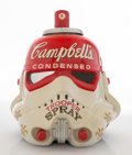 Fine Art - Sculpture, European:Contemporary (1950 to present), Mr. Brainwash (French, b. 1966). Campbell's Condensed TrooperSpray, 2013. Acrylic on vinyl helmet. ...