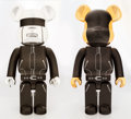 Collectible:Contemporary, BE@RBRICK X Daft Punk. St. Laurent Suit 1000% (Gold and Silver) (two works), 2012. Painted cast vinyl. 28 x 13-1/4 x 9-1... (Total: 2 Items)