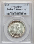 Commemorative Silver, (9)1947 50C Booker T. Washington MS65 PCGS. PCGS Population: (811/314). NGC Census: (473/160). CDN: $50 Whsle. Bid for prob... (Total: 9 coins)