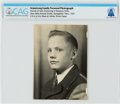 Explorers:Space Exploration, Blume High School: 1947 Portrait of Neil Armstrong in Suit from a Family Photo Album, Directly From The Armstrong Family C...
