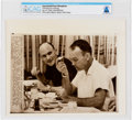 """Explorers:Space Exploration, AP Original Wirephotos: """"Chewing and Listening"""" July 15, 1969, Directly From The Armstrong Family Collection™, CAG Certifi..."""
