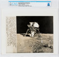 "Explorers:Space Exploration, AP Original Wirephotos: ""Work on the Moon"" August 6, 1969, Directly From The Armstrong Family Collection™, CAG Certified...."