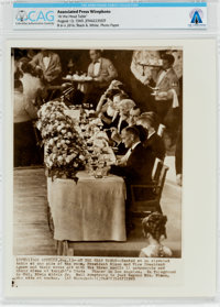 """AP Original Wirephotos: """"At the Head Table"""" August 14, 1969, Directly From The Armstrong Family Collection™, C..."""