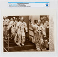 """Explorers:Space Exploration, AP Original Wirephotos: """"Cheerful Moon Crew"""" July 16, 1969, Directly From The Armstrong Family Collection™, CAG Certified...."""