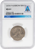 Explorers:Space Exploration, Coins: 1979-P Narrow Rim $1 MS61 NGC Susan B. Anthony Dollar Directly From The Armstrong Family Collection™, CAG Certi...