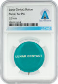 "Explorers:Space Exploration, Apollo 11: Vintage Grumman ""Lunar Contact"" Pinback Button Directly From The Armstrong Family Collection™, CAG Certified...."