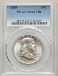 Franklin Half Dollars: , 1959 50C MS66 Full Bell Lines PCGS. PCGS Population: (72/1). NGC Census: (21/2). CDN: $1,150 Whsle. Bid for problem-free NG...