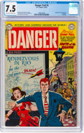 Golden Age (1938-1955):Adventure, Danger Trail #5 (DC, 1951) CGC VF- 7.5 Off-white to white pages....