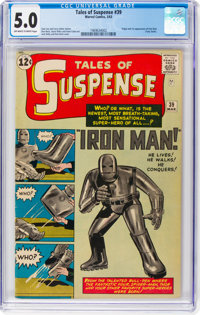 Tales of Suspense #39 (Marvel, 1963) CGC VG/FN 5.0 Off-white to white pages