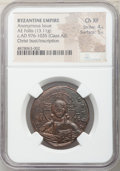 Ancients:Byzantine, Ancients: Anonymous. Class A2. Time of Basil II-Constantine VIII (ca. AD 976-1035). AE follis (30mm, 13.11 gm, 5h). NGC Choice XF 4/5 - ...