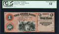 Obsoletes By State:Michigan, Detroit, MI- State Bank of Michigan $1 18__ Remainder PCGS Choice About New 58.. ...