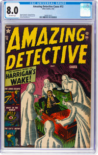 Amazing Detective Cases #12 (Atlas, 1952) CGC VF 8.0 Off-white pages