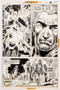 Original Comic Art:Panel Pages, Ric Estrada and Joe Kubert Our Army at War #282 Story Page 12 Autographed by Both Original Art (DC Comics, 1975)....