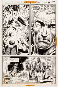 Ric Estrada and Joe Kubert Our Army at War #282 Story Page 12 Autographed by Both Original Art (DC Comics, 1975)