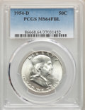 Franklin Half Dollars, (6)1954-D 50C MS64 Full Bell Lines PCGS. PCGS Population: (5828/2478). NGC Census: (2292/809). MS64.... (Total: 6 coins)