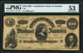 Confederate Notes:1864 Issues, T65 $100 1864 PF-3 Cr. 494 PMG About Uncirculated 53.. ...