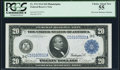 Fr. 974 $20 1914 Federal Reserve Note PCGS Choice About New 55