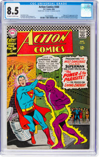 Action Comics #340 Double Cover (DC, 1966) CGC VF+ 8.5 Off-white to white pages