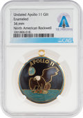 Explorers:Space Exploration, Apollo 11: Rockwell International Apollo 11 Gilt Enameled Pendant Directly From The Armstrong Family Collection™, CAG Certifie...