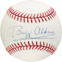Apollo 11: Buzz Aldrin Signed Baseball with Wooden Display Directly From The Armstrong Family Collection™, CAG Cer