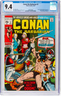 Bronze Age (1970-1979):Adventure, Conan the Barbarian #2 (Marvel, 1970) CGC NM 9.4 Off-white to whitepages....