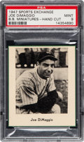 Baseball Cards:Singles (1940-1949), 1947 W602 Sports Exchange Joe DiMaggio PSA Mint 9 - The Only PSA Graded Example!...