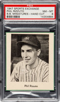 Baseball Cards:Singles (1940-1949), 1947 W602 Sports Exchange Phil Rizzuto PSA NM-MT 8 - The Only PSAGraded Example!...
