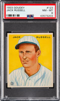 Baseball Cards:Singles (1930-1939), 1933 Goudey Jack Russell #123 PSA NM-MT 8. ...