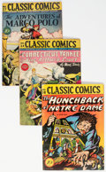 Golden Age (1938-1955):Classics Illustrated, Classic Comics Original Edition Group of 4 (Gilberton, 1944-46).... (Total: 4 Comic Books)