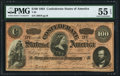 Confederate Notes:1864 Issues, T65 $100 1864 PF-3 Cr. 494 PMG About Uncirculated 55 EPQ.. ...