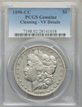 1890-CC $1 -- Cleaning -- PCGS Genuine. VF Details. NGC Census: (116/6634). PCGS Population: (153/12847). CDN: $90 Whsle...